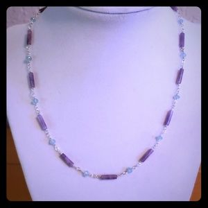 Jewelry - Amethyst & Apatite Necklace